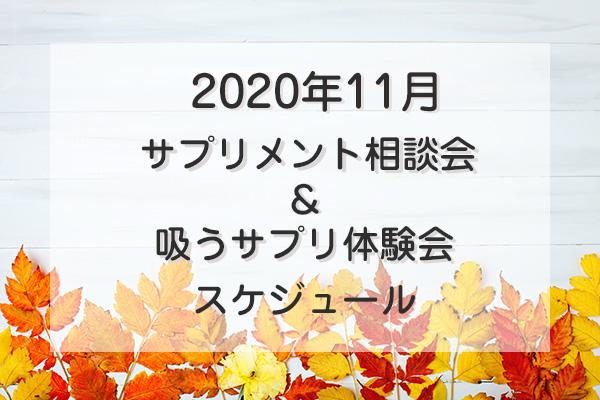 2020年11月サプリメント相談会